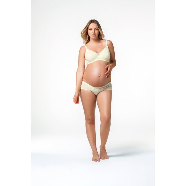 Cake-Lingerie-Banana-Parfait-Cream-Maternity-Nursing-Bra-Brief-Front