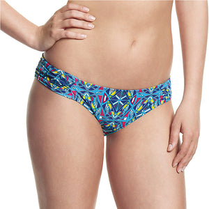 Cleo-Jecca-Gathered-Brief-Aztec-Print-CW0106-Front