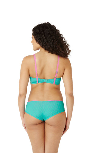 Cleo-Lingerie-Maddie-Spot-T-Shirt-Bra-Teal-7881-Brief-7882-Back