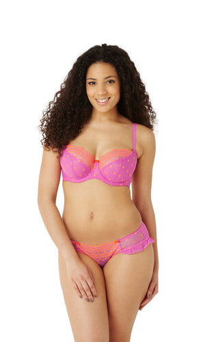 Cleo-Lingerie-Marcie-Balconette-Bra-Magenta-Orange-6831-Brief-6832-Front