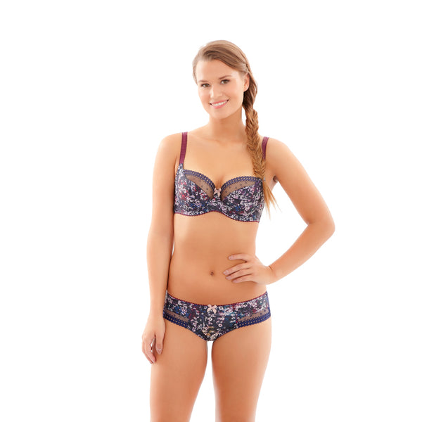 Cleo-Lingerie-Minnie-Floral-Camo-Balconette-Bra-7431-Brief-7432-Front