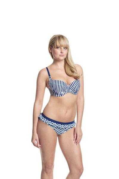 Cleo-Lucille-Moulded-Balconette-Bikini-Nautical-Stripe-CW0062-Frill-Pant-Nautical-Print-CW0067-Front