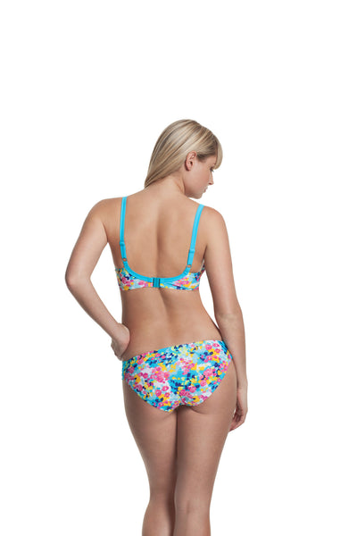 Cleo-Swim-Lulu-Plunge-Bikini-Top-Floral-Print-CW0094-Gathered-Brief-CW0096-Back
