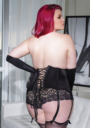 Coquette-Lingerie-Black-Zippered-Waist-Cincher-Plus-Size-CQ3729-Back