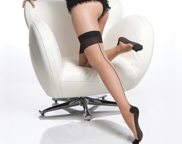Coquette-Lingerie-Cuban-Heel-Stockings-Black-Nude-CQ1765