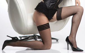 Coquette-Lingerie-Elastic-Top-Fishnet-Stockings-Black-CQ1733