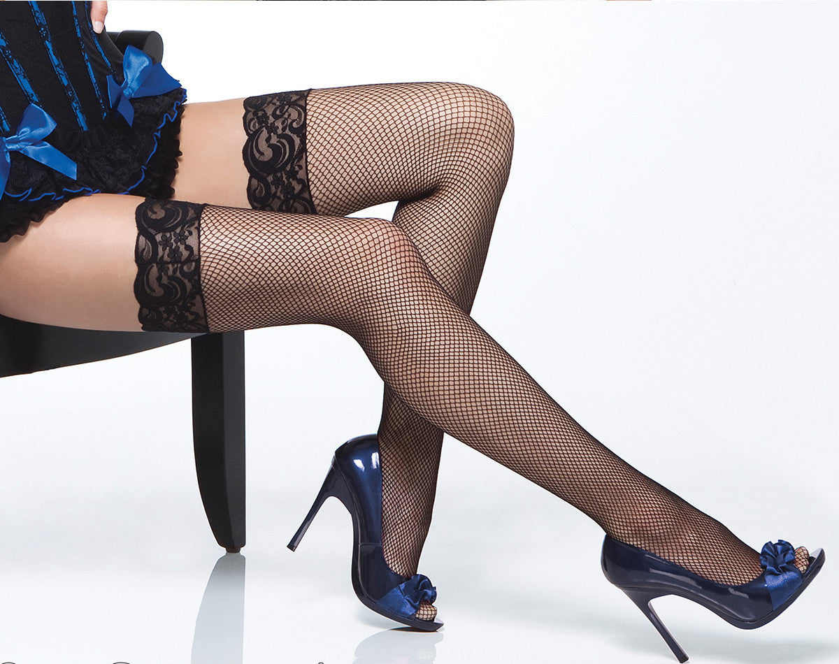 3402fa4d4 Lace Top Fishnet Thigh High Stockings CQ1732 - Free UK Shipping ...
