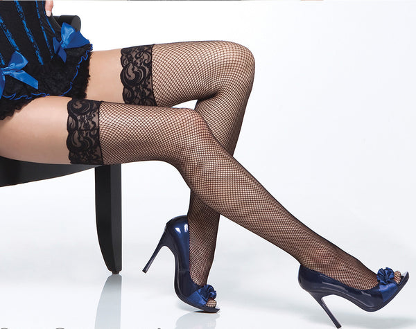 Coquette-Lingerie-Lace-Top-Fishnet-Stockings-Black-CQ1732