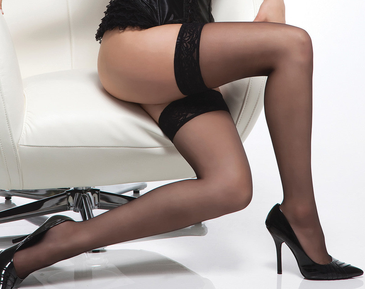 13f1d4766e2 Coquette-Lingerie-Lace-Top-Sheer-Thigh-Highs-Black-