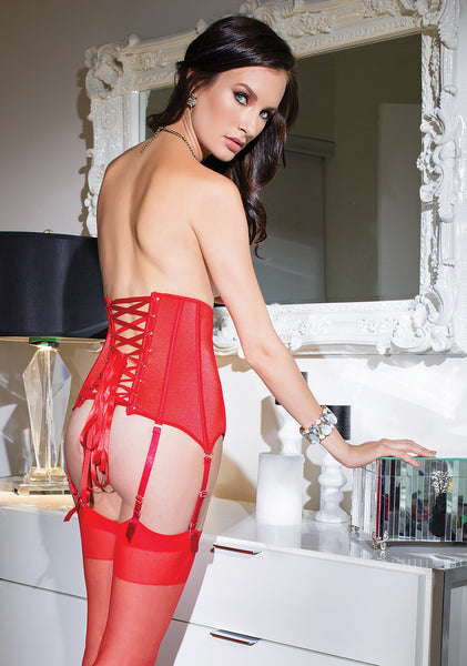 Coquette-Lingerie-Red-Zippered-Waist-Cincher-CQ3729-Back