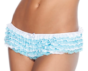 Coquette Lingerie Ruffle Panty Blue White 115 Front