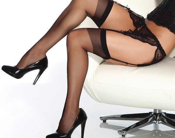 Coquette-Lingerie-Sheer-Thigh-Highs-Black-CQ1706