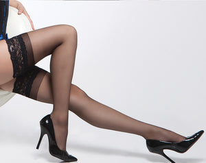 Coquette-Lingerie-Silicone-Top-Stay-Up-Stockings-Black-CQ1750