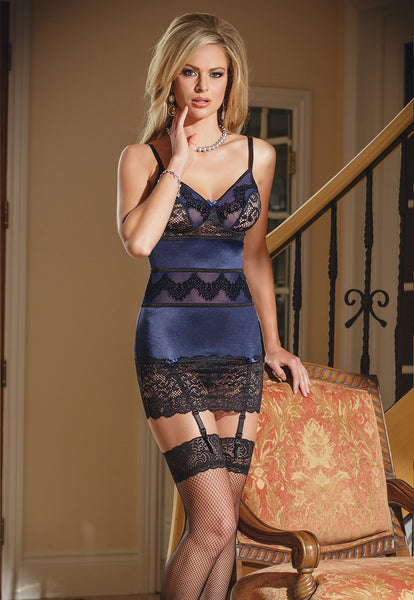 Coquette Navy Blue Lace Chemise Cq1378 Free Uk Shipping