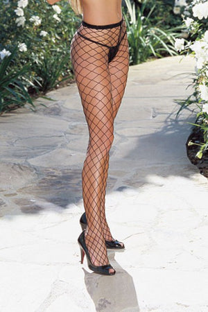 Dreamgirl-Diamond Fence-Net-Pantyhose-Black-0010