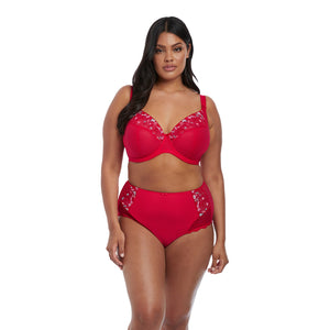 Elomi-Lingerie-Charley-Red-Plunge-Bra-EL4380RED-Full-Brief-EL4388RED-Front