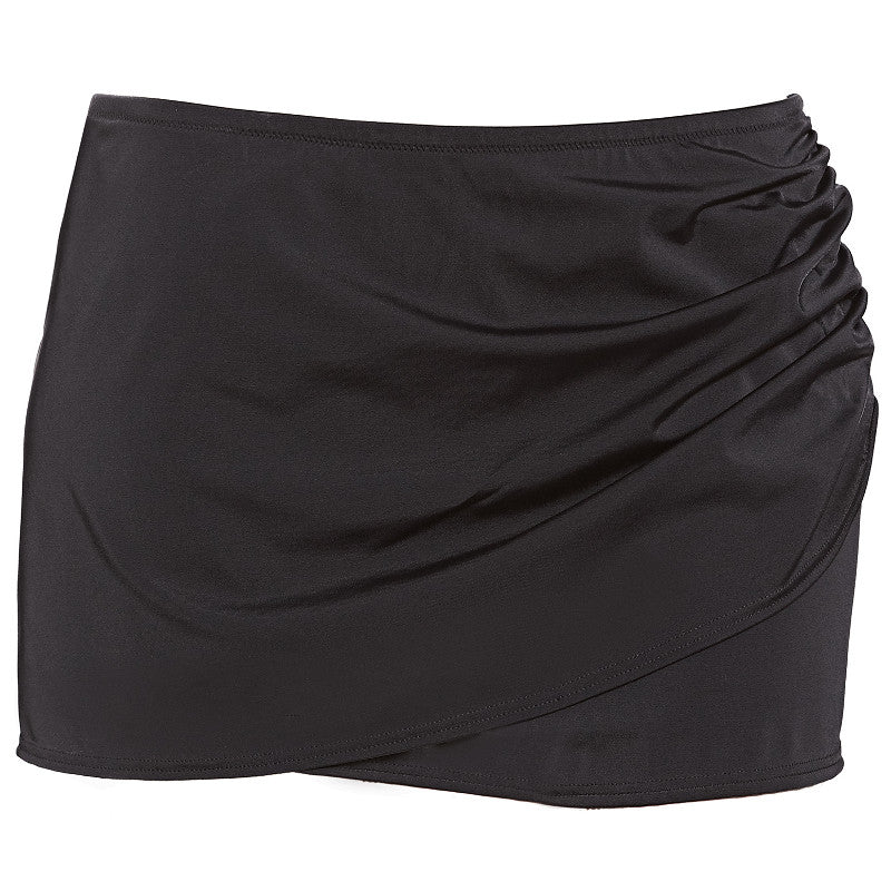 8de718e9e8 Elomi Essentials Wrap Skirted Swim Brief Black | ES7619BLK ...