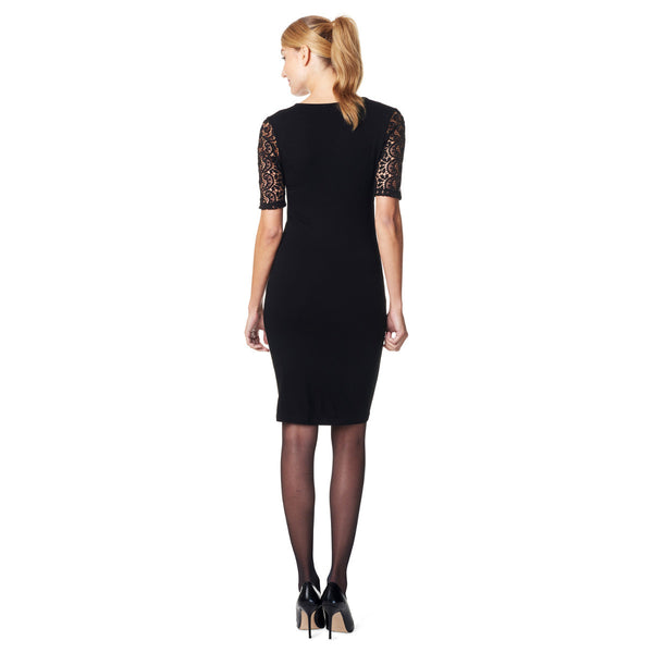 Esprit-Maternity-Black-Nursing-Dress-Y84275-Back
