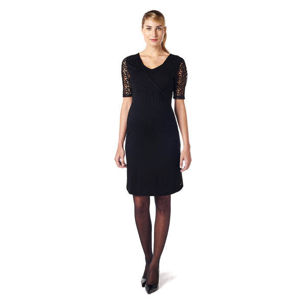 Esprit-Maternity-Black-Nursing-Dress-Y84275-Front