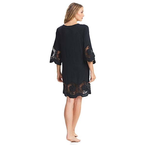 Fantasie-Dione-Black-Tunic-Beach-Cover-Up-FS6364BLK-Back