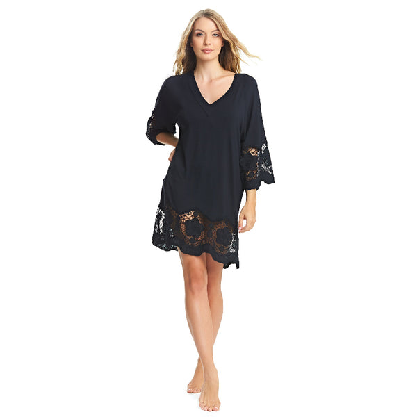 Fantasie-Dione-Black-Tunic-Beach-Cover-Up-FS6364BLK-Front