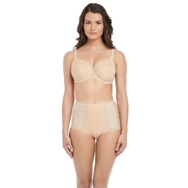 Fantasie-Lingerie-Fusion-Sand-Nude-Full-Cup-Side-Support-Bra-FL3091SAD-High-Waist-Brief-FL3098SAD-Front