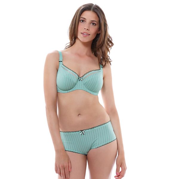 Fantasie-Lingerie-Lois-Mint-Chocolate-Side-Support-Bra-FL2972MIE-Short-FL2976MIE-Front