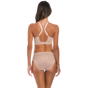 Fantasie-Lingerie-Memoir-Natural-Beige-Nude-Moulded-T-Shirt-Bra-Racerback-FL3020NAE-Full-Brief-FL3025NAE-Back