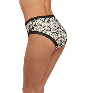 Fantasie-Lingerie-Mya-Monochrome-Black-White-Brief-FL2585MOM-Back