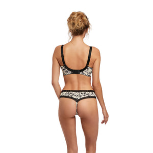 Fantasie-Lingerie-Mya-Monochrome-Black-White-Side-Support-Bra-FL2582MOM-Brazilian-Thong-FL2587MOM-Back