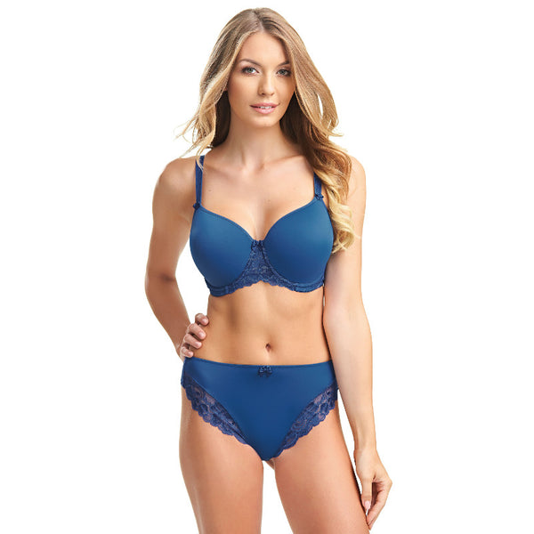 Fantasie-Lingerie-Rebecca-Lace-Marine-Blue-Spacer-Full-Cup-Bra-FL9421MAR-Thong-FL9427MAR-Front