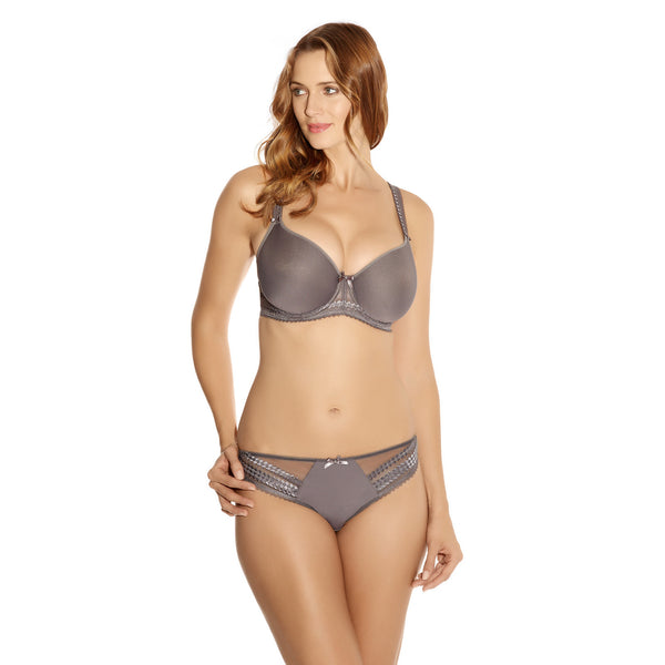 Fantasie-Lingerie-Rebecca-Moulded-Cup-Bra-Pewter-FL2024PEW-Brief-FL2025PEW-Front