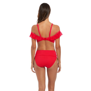 Fantasie-Swim-Marseille-Sunset-Red-Bardot-Bikini-Top-Straps-FS6682SUT-Classic-Fold-Brief-FS6695SUT-Back