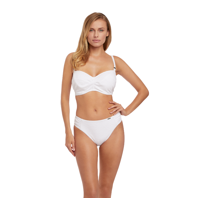 68ca0b3bb83 Ottawa White Twist Bandeau Multiway Bikini Top - Fantasie Swim