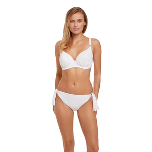 Fantasie-Swim-Ottawa-White-Gathered-Bikini-Top-FS6353WHE-Tie-Side-Brief-FS6357WHE-Front