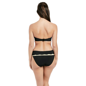Fantasie-Swim-Sainte-Maxime-Black-Cream-Bandeau-Bikini-Top-FS6236LAC-Classic-Fold-Brief-FS6235LAC-Back