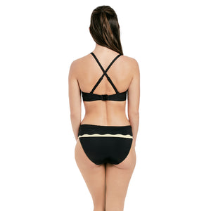 Fantasie-Swim-Sainte-Maxime-Black-Cream-Bandeau-Bikini-Top-Racerback-FS6236LAC-Classic-Fold-Brief-FS6235LAC-Back