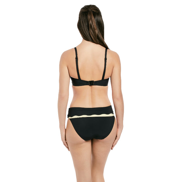 Fantasie-Swim-Sainte-Maxime-Black-Cream-Bandeau-Bikini-Top-Straps-FS6236LAC-Classic-Fold-Brief-FS6235LAC-Back