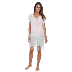 Antheia White Tunic Beach Cover-Up - Fantasie Swim