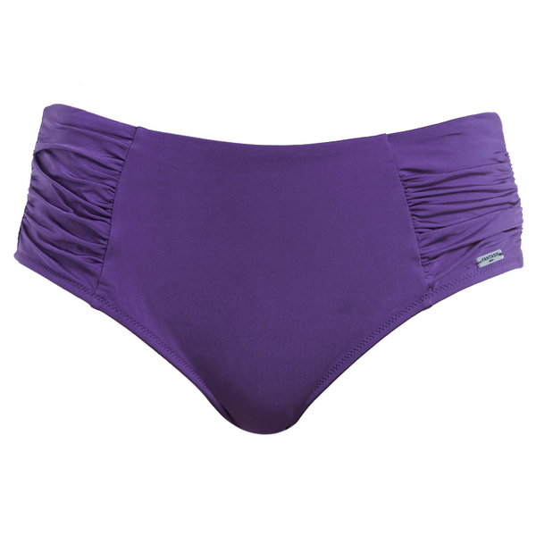 Fantasie-Swimwear-Los-Cabos-Violet-Purple-Deep-Gathered-Bikini-Brief-Pant-FS6156VIT-Front