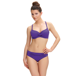 Fantasie-Swimwear-Los-Cabos-Violet-Purple-Full-Cup-Bikini-Top-FS6152VIT-Mid-Rise-Brief-FS6155VIT-Front