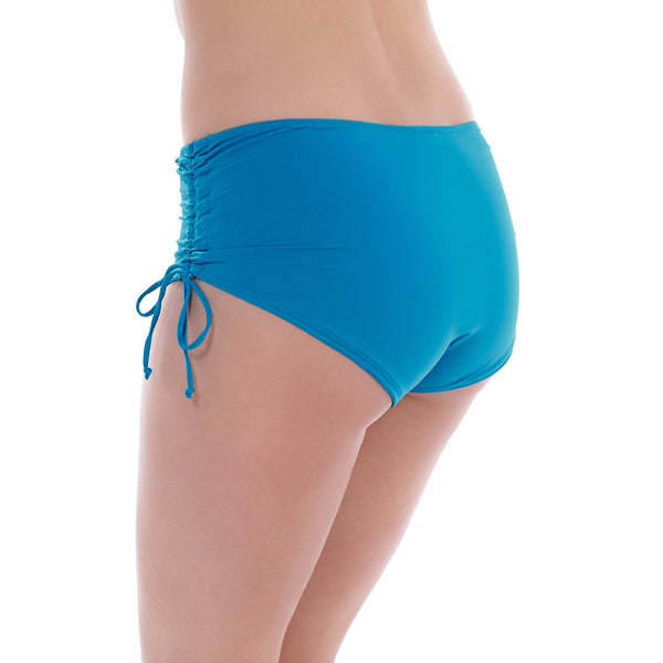 Versailles China Blue Adjustable Leg Swim Short - Fantasie Swim