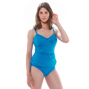 Fantasie-Swimwear-Versailles-China-Blue-Tankini-Swim-Top-FS5751CHB-Classic-Fold-Brief-FS5757CHB-Front
