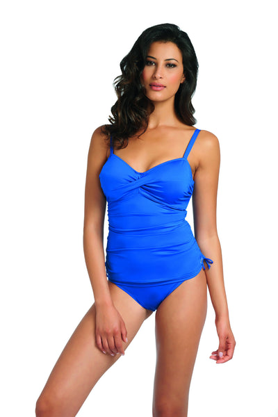 Fantasie-Swimwear-Versailles-Twist-Front-Tankini-Top-Windsor-Blue-5751-Classic-Fold-Brief-5757-Front