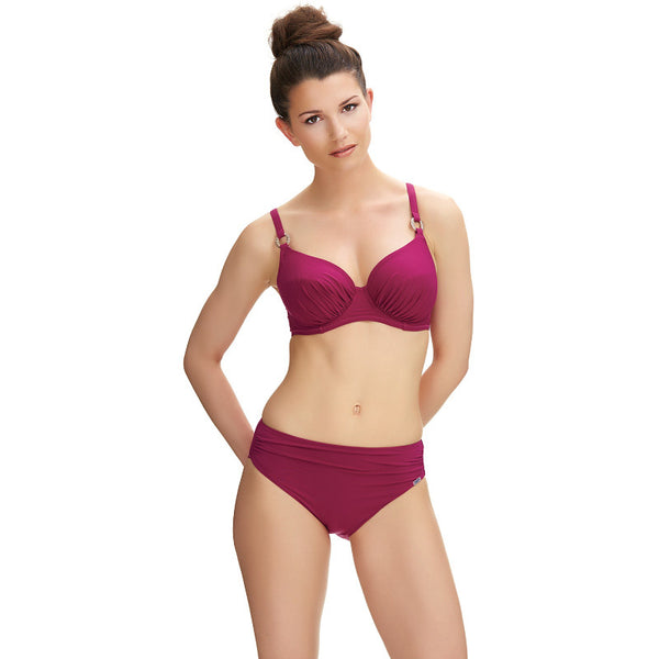 Fantasie-Swimwear-Viana-Berry-Full-Cup-Bikini-Top-FS6273BEY-Mid-Rise-Gathered-Brief-FS6274BEY-Front