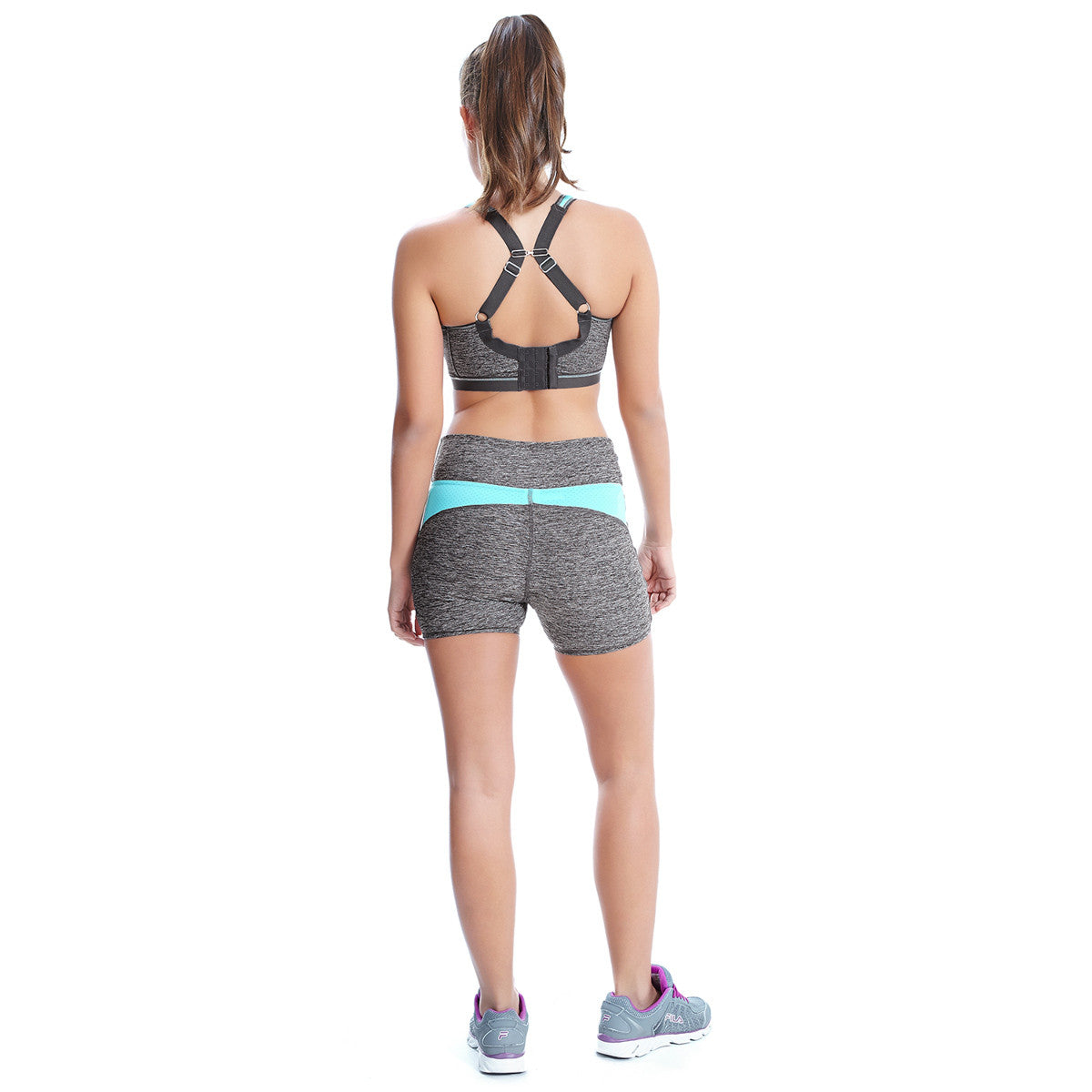 82b5e01f13 Freya Epic Sports Bra Underwired Carbon Grey Crop Top