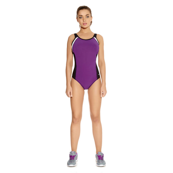 Freya-Active-Purple-Rain-One-Piece-Sports-Swimsuit-AS3991PRN-Front