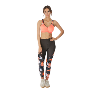Freya-Active-Sonic-Coral-Underwired-Sports-Bra-AC4892COL-Kinetic-Leggings-AC4015DIN-Front