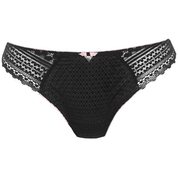 Freya-Lingerie-Daisy-Lace-Noir-Black-Thong-AA5137NOR-Front