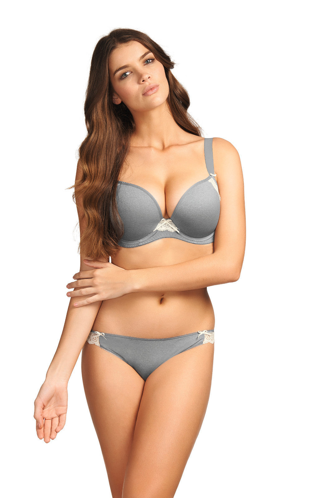 Freya Deco Delight Dove Grey Moulded Plunge Bra with J Hook Various Sizes